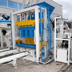 Stationary concrete block making machine SUMAB E-400