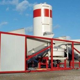Mobile concrete batching plant Sumab K-40
