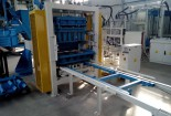 Stationary block machine Sumab E-400 in a set with concrete batching plant in Uralsk, Kazakhstan.