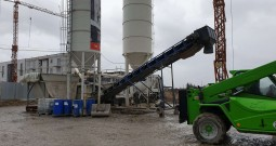 Inspection of the mobile concrete plant Sumab K-40 in Wroclaw, Poland.